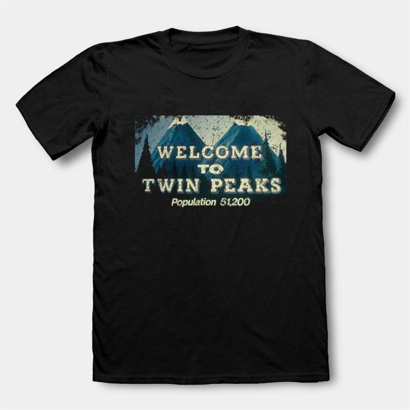 Comfort Soft Twin Peaks Crew Neck Short-Sleeve Mens Shirt