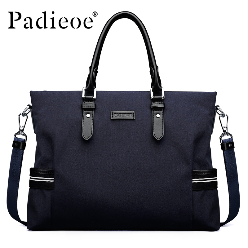 Padieoe Brand Men Business Briefcase Handbag Canvas Shoulder Bags Tote Laptop Bag Crossbody Bag Men