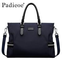 Padieoe Brand Men Business Briefcase Handbag Canvas Shoulder Bags Tote Laptop Bag Crossbody Bag Men