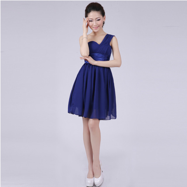 6 Style Navyroyal Blue Bridesmaid Dress Plus Size Short A Line