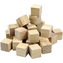 1pack Solid Wood Blocks Square Jenga Blocks Kids Early Educational Toys Assemblage Block Embellishment DIY Woodwork Craft(China)