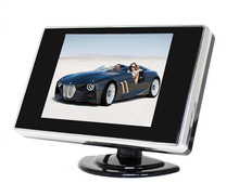 HD 3.5 inch TFT-LCD Color Screen Car Monitor 480*272  2 Way Video for Rear View Reverse Backup Camera /DVD / VCD/ DC 12V