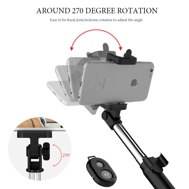 FLOVEME Tripod Selfie Stick Wireless Bluetooth Monopod For iPhone Samsung Xiaomi Remote Control Handheld Smartphone Selfie Stick