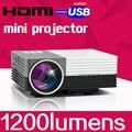 Длительный Срок Службы СВЕТОДИОДНЫХ Портативный Домашний кинотеатр Кино Цифровой gM50 Видео 1200 люмен HDMI ЖК-Проектор FuLl hD 1080 P Proyector Бимер