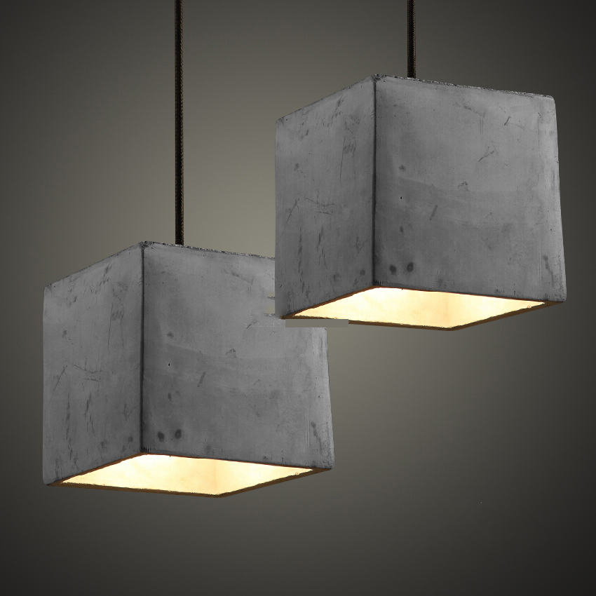 4 Types Cement Pendant Lamp Hanging Lamps For Living Room Restaurant Coffee Shop Lamparas Colgantes Hall