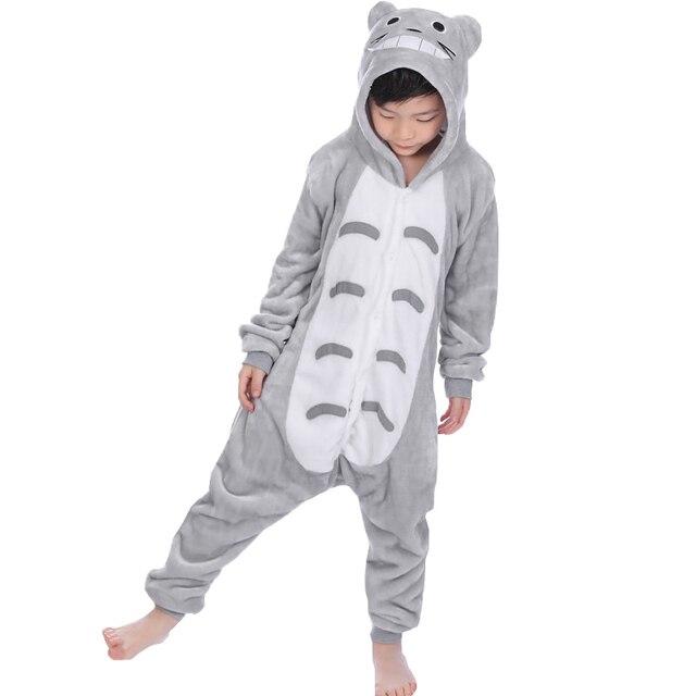 18d6131ab8 Niños bebé niños niñas pijama Totoro pijamas Cosplay Navidad pijamas animal  onesie niños invierno con capucha