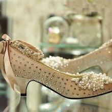 2016 Handmade Bow Beaded Bride Formal Dress the Banquet Hhigh-heeled Wedding Dress Single Shoes Rhinestone Sewing Wedding Shoes