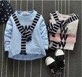 0-4years 2016 Весенние и Осенние Детская Одежда Мальчиков Sweatershirt Детские Хлопок Печатными Буквами Шаль Досуг Рубашка бесплатная доставка