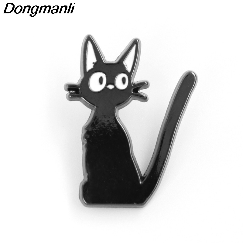 P3447 Wholesale 20pcs lot Kiki s Delivery Service Metal Enamel Pins and Brooches for Women Men