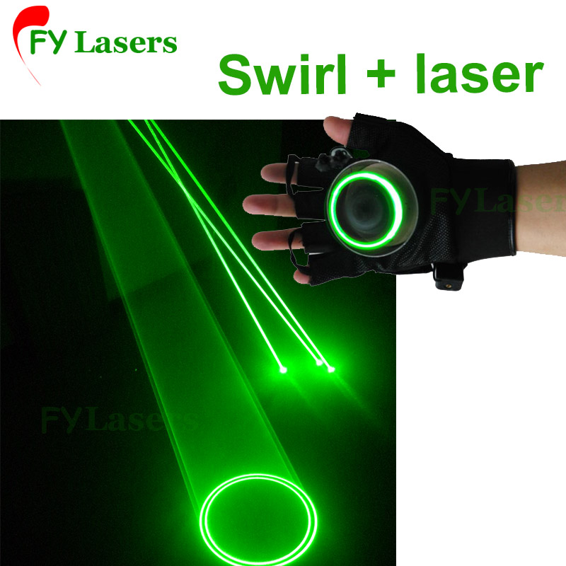 Laser vortex gloves Auto Green Rotating Vortex Laser Glove for Dance Party DJ Club 532nm vortex 62001