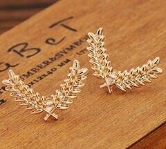 Versión coreana del traje y la camisa broche de alfiler para cuello estéreo coreano pequeño metal trigo Collar hebilla accesorios envío gratis