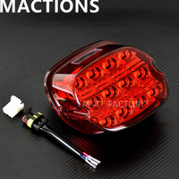 Motorcycle Led Brake Tail Light Red For Harley Dyna Fat Boy FLSTF Night Train FXSTB Softail Sportster Road King Electra Glide