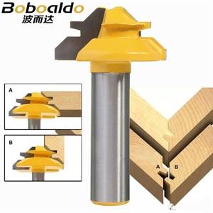 Image 2 - Peu de défonceuse à tige, 8mm, 1/4, Anti rebondissement, 45 degrés, 1/2 pouce, fraise à tige pour outils de menuiserie couteau à bois 1 pièce