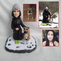 Фигурка Торт РИСУНОК свадебный торт куклы свадебные куклы Полимерная глина собака ручной собака торт ко дню рождения Китайский топперы для