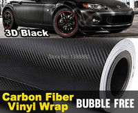 50CMX152CM DIY 3D Carbon Fiber Wrap Roll Sticker Vinyl Car Auto Vehicle Detailing BLACK Car Styling