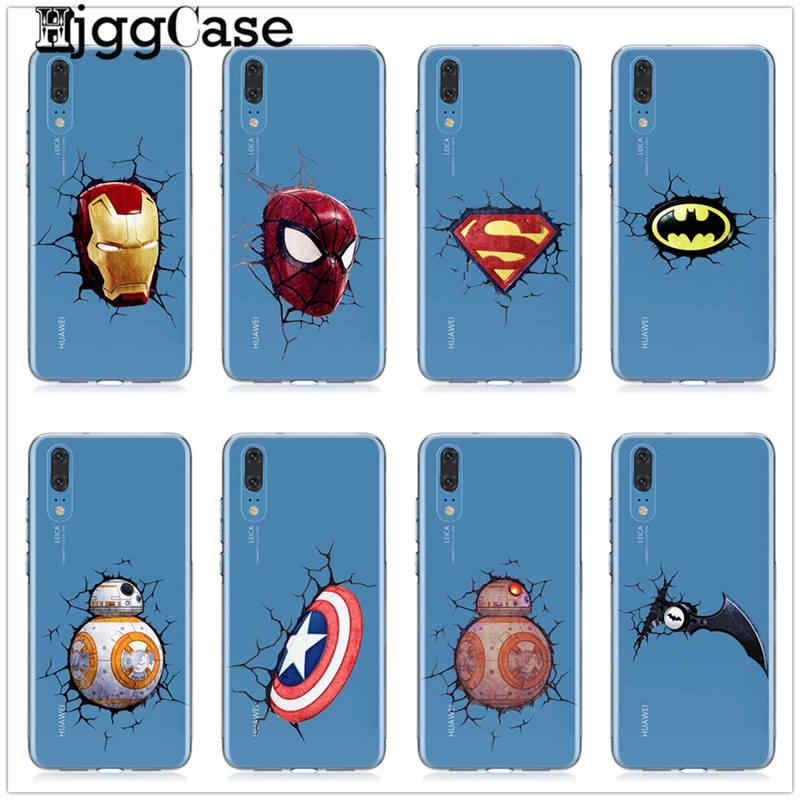 Marvel Avengers Batman SpiderMan Iron man Soft TPU Silicone Case For Coque Huawei P30 P20 P10 Lite Pro Mate 20 10 Lite Pro Cover