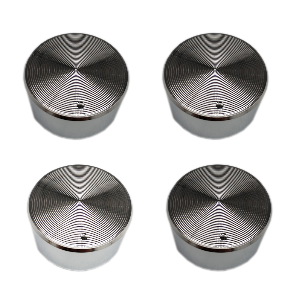 4PCS Rotary switch gas stove parts knob zinc alloy round with chrome plating for Siemens