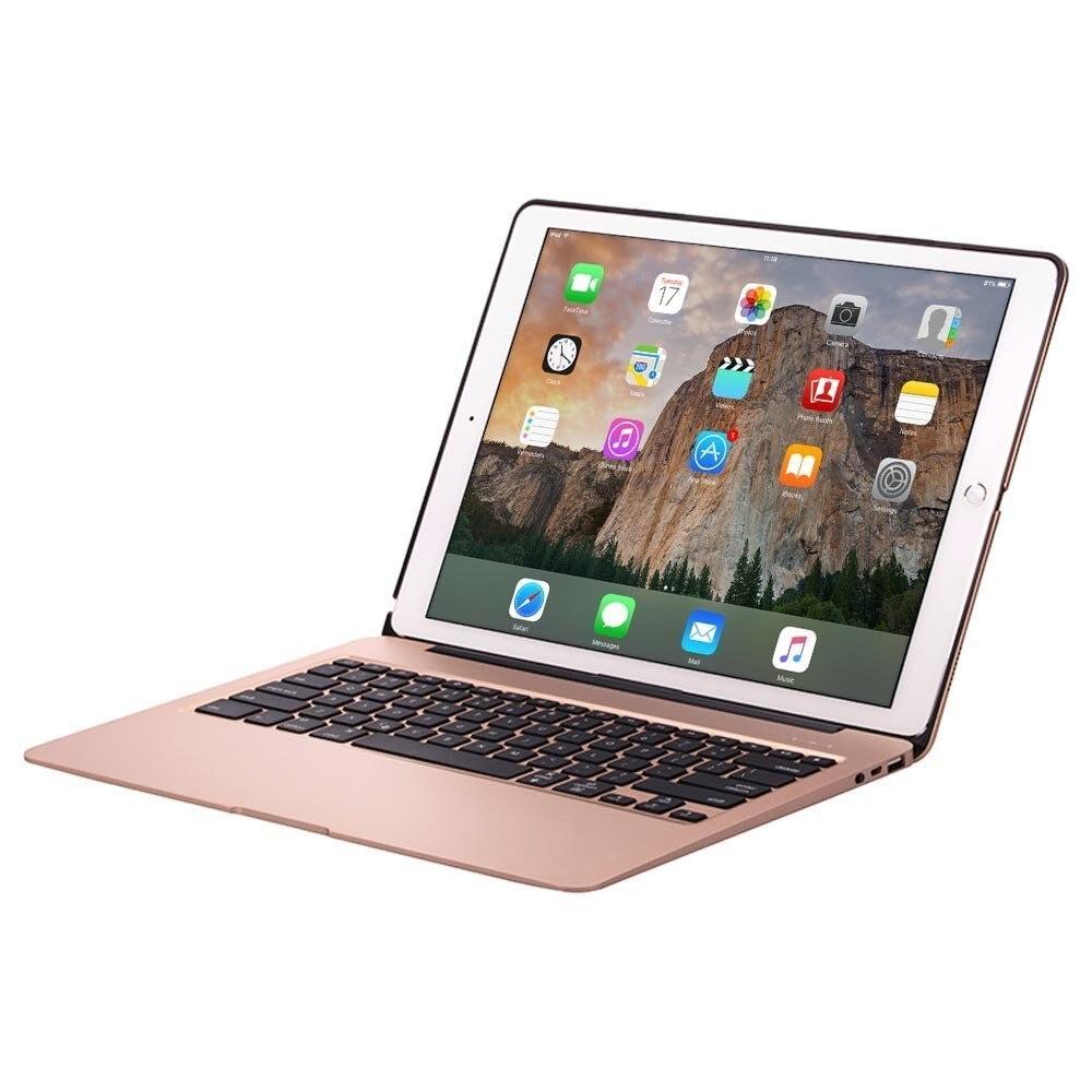 bilder für Für Ipad Pro 12,9 Apple Tastatur Fällen Drahtlose 7 Hintergrundbeleuchtung Rose Gold Bluetooth 13 Zoll Clamshell 5600 Mah Energienbank aluminium