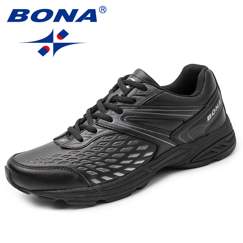 BONA New Arrival Classics Style Men Running Shoes Lace Up Men Athletic Shoes Outdoor Jogging Shoes Comfortable Sneakers Shoes colour block lace up splicing athletic shoes