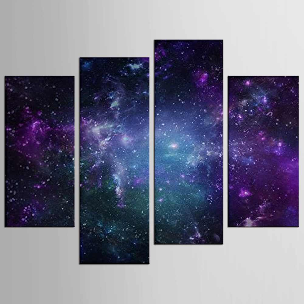Hot Sale Painting By  Wall Art Painting Night Sky For Home Decor Print Picture Canvas 4 Pieces
