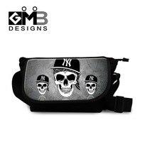 Skull Messenger Bag Cross Body Bag For Boys Teenager Girls Travel Messenger Bag Over Shoulder Handbag