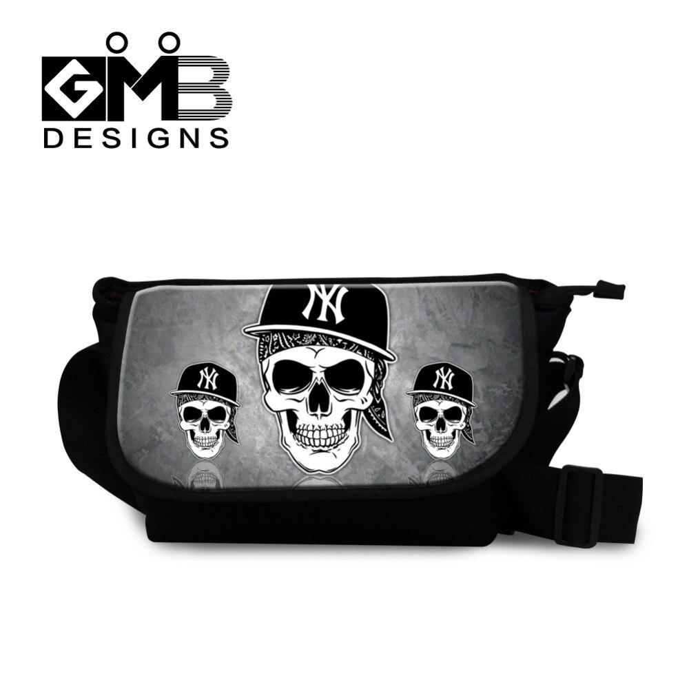 Skull Messenger Bag Cross body Bag For Boys Teenager Girls Travel Messenger-bag Over Shoulder handbag for women college book</