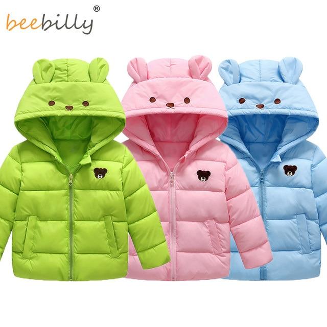 b015dfd7be27 Winter Jackets for Girls Boys Cartoon Style Baby Girl Fashion ...