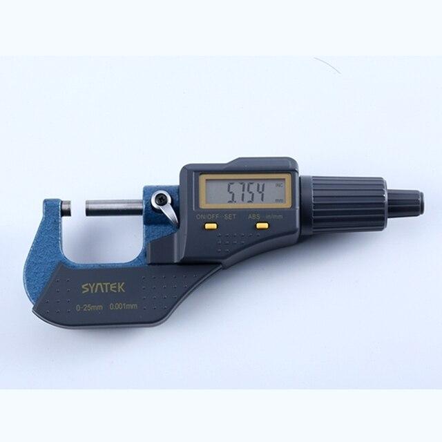 0,001mm Digitale Elektronische Mikrometer 0 25mm Mikrometer Außerhalb Mikrometer Gauge Meter Zoll/mm Dicke Mess Werkzeuge mit Box