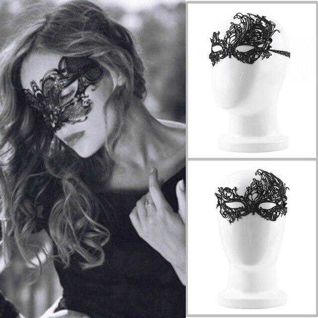2Pcs Design Women Costume Eye Mask Sexy Lace Eye Mask Venetian Masquerade Ball Halloween Fancy Dress Costume Newest Hot Search