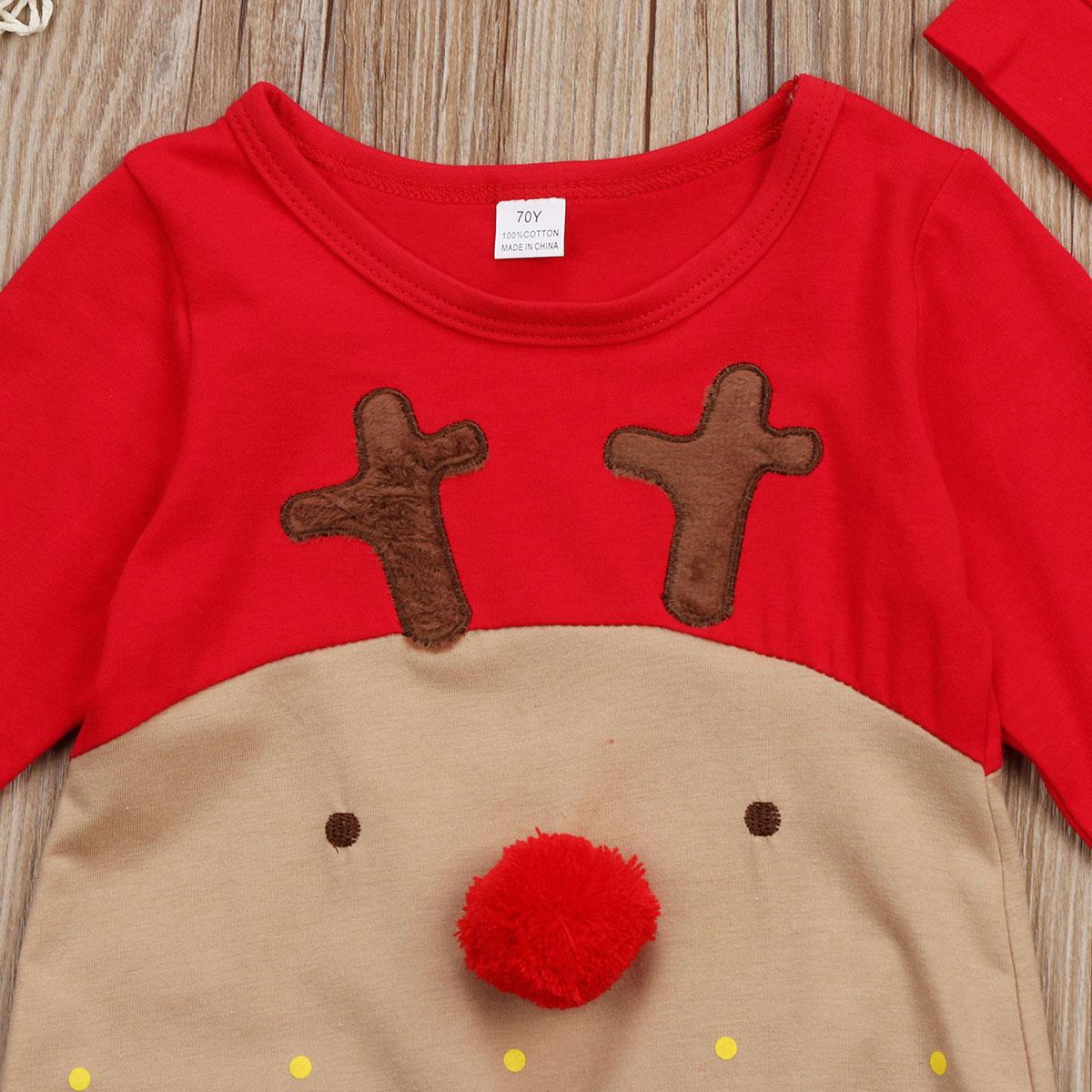 HTB1ZTChXzzuK1RjSspeq6ziHVXap 2Pcs Newborn Baby Boys Girl Christmas Rompers Long Sleeve Deer Romper Jumpsuit Hat Sleepwear Party Costume Baby Clothes