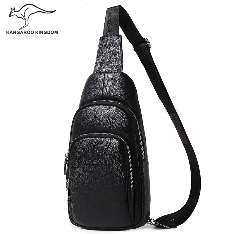 Kangaroo Kingdom Luxury Fashion Men Bag Genuine Leather Male Crossbody Shoulder Messenger Bags kangaroo kingdom famous brand nylon men bag chest pack male one shoulder crossbody messenger bags