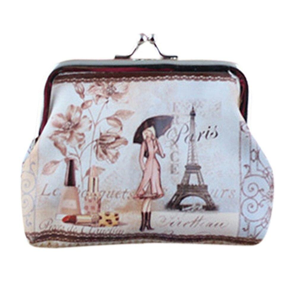 2017 New Fashion Style Women Small Coin Purse Wallet Credit Card Holder Printes Ladies Girls Casual Hasp Clutch Handbag Bag Hot casual weaving design card holder handbag hasp wallet for women
