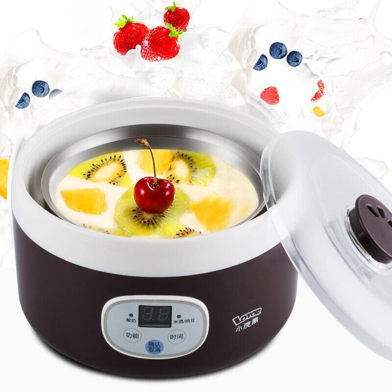 Multifunctional Stainless Steel Automatic Yogurt Machine Homemade Yogurt Rice Wine Natto Machine Microcomputer Control Timing