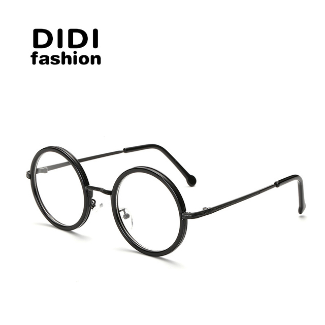DIDI Small Round Clear Lens Eyeglass Frame Retro Thin Metal Optical  Spectacle Glasses Frame Accessory Brand Designer Oculos H166 fed6fdcbef8f