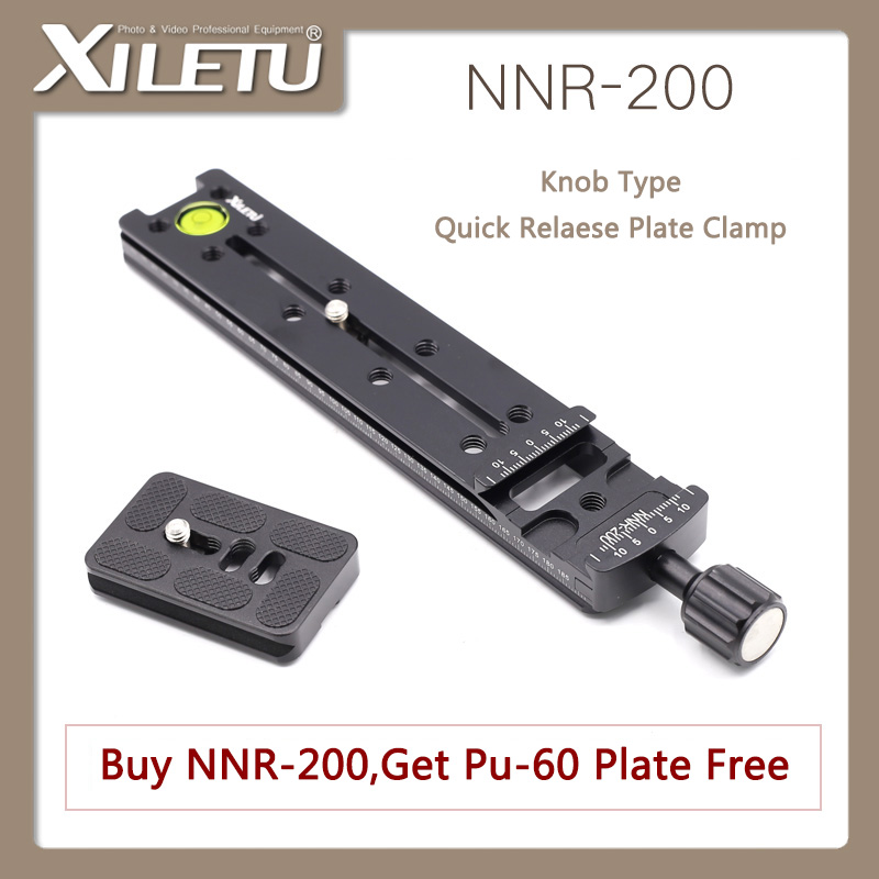 XILETU NNR-200 Multifunctional Lengthen Quick Release Plate Mounting Clamp Tripod Ball Head For Camera