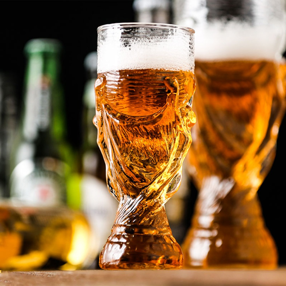 1pc 350ml New Creative Glass Beer Glass Mugs for Bars Crystal Cups