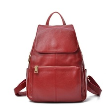 ATTRACTIVEWOMAN Genuine Leather Backpack Leather Backpack