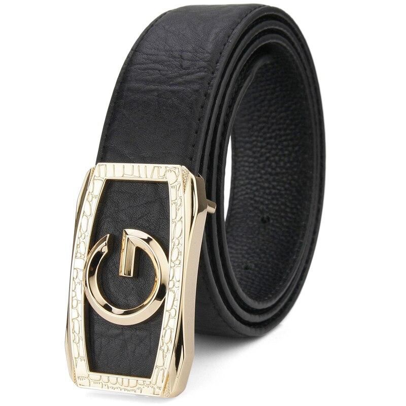 High quality g belt men designer fashion letter buckle gold belt men genuine leather luxury Waist Strap male cowhide corset belt