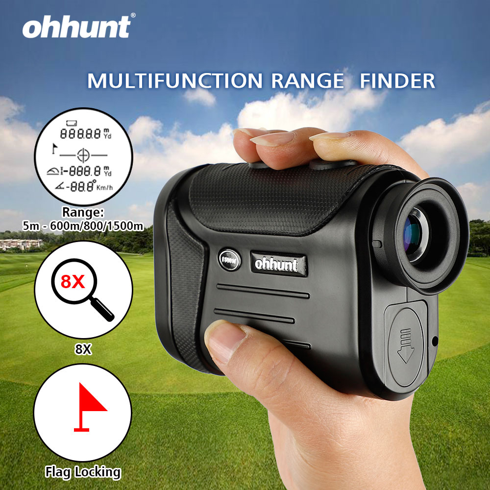 Ohhunt 8X 600M 800M 1500M Multifunction Laser Rangefinders Hunting Golf Monocular Range Finder Distance Meter Outdoor Measuring