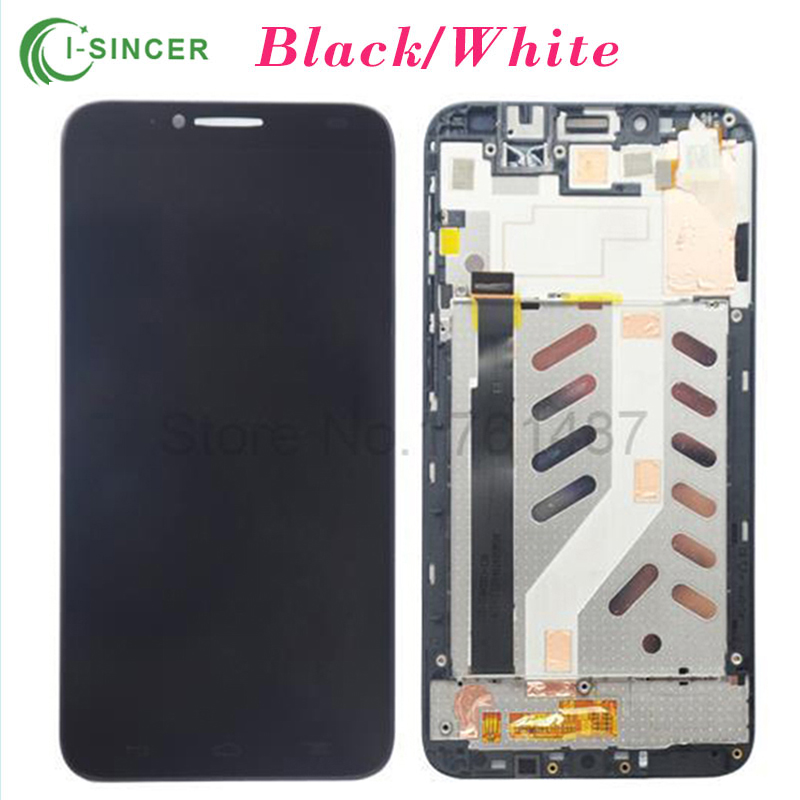 For Alcatel One Touch Idol 2 6037 OT6037 6037B 6037L LCD Display Screen Touch Digitizer Assembly with Frame Free Shipping  цены