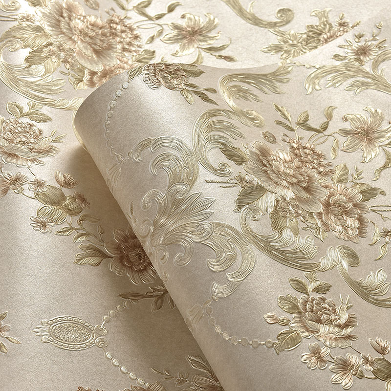 beibehang deep embossed pastoral 3d flooring Bedroom TV Background Wall Paper Home Decor Living Room Non-woven Mural Wallpaper milan classical wall papers home decor non woven wallpaper roll embossed simple light color living room wallpapers wall mural
