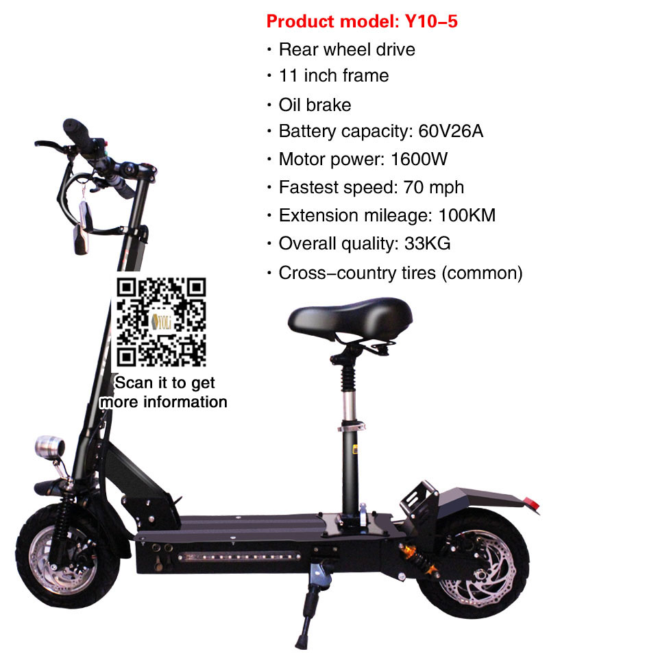 US $1699 0 |Scooters for sale 11 inch frame 60v 26A battery 1600W motor  fastest electric scooter folding electric bike 100 km-in Electric Scooters