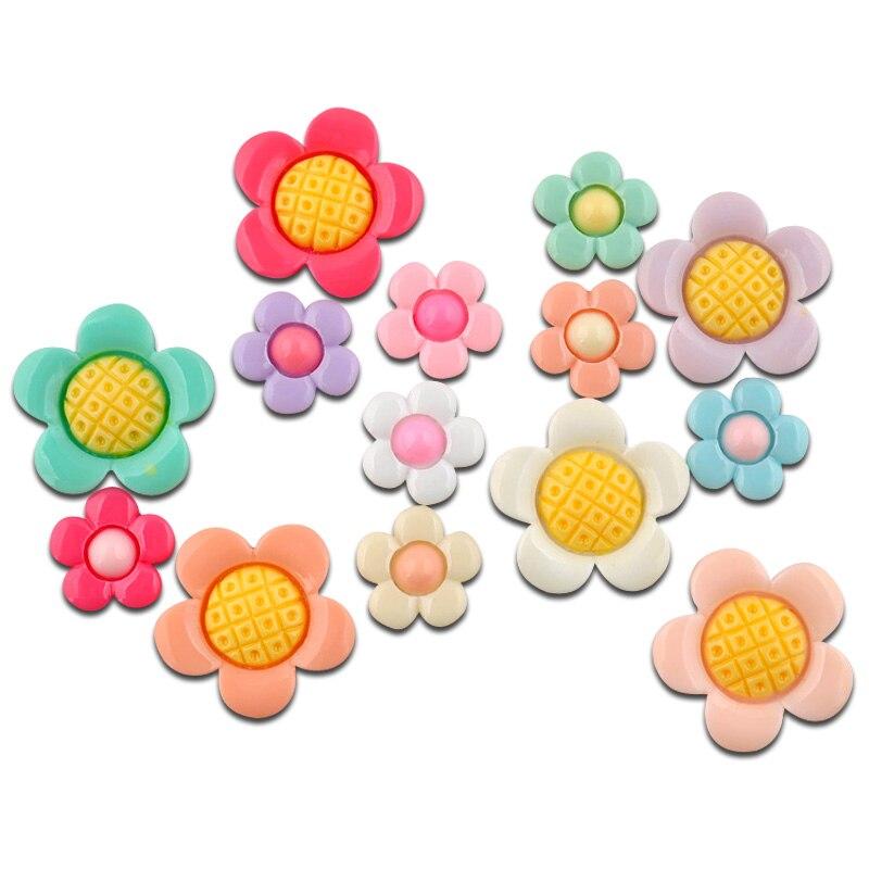 LF 50 шт. смешанный резиновый цветок украшения Flatback Craft кабошон украшения для Скрапбукинг Kawaii Симпатичные Diy аксессуары