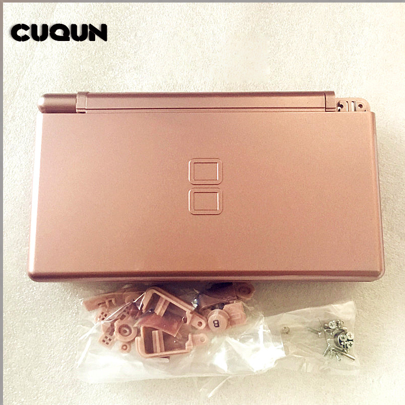 Promotion Rose-Gold Full Housing Case For Nintend DS Lite Console Shell Case Kit With Buttons Screwdriver For Nintend DS Lite