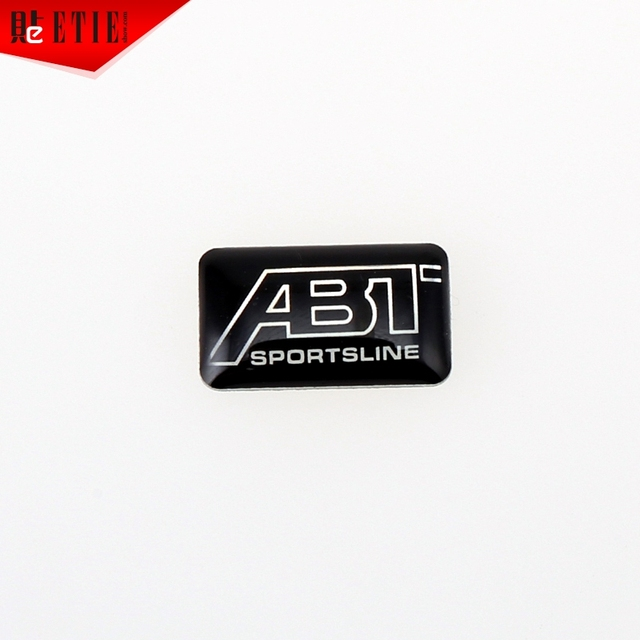 US $3 99 |ETIE 2pcs Square epoxy glue Sticker Logo Steering wheel Decals  Custom Self Adhesive Metal Badge Stickers For Cars Accessories-in Emblems