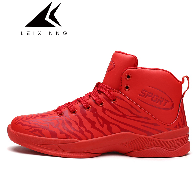 New 2017 Waterproof Sport Basketball Shoes Colorful Mens Trainers Basket Lace Up Chaussure