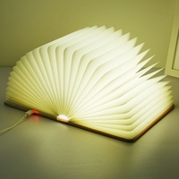 Foldable Book Light 5 Colors Light Portable Booklight USB Rechargeable Night Light For Holiday Gifts