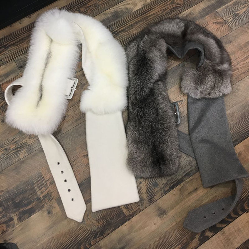Lady slim เข็มขัด fox fur outwear gilet แฟชั่นยุโรปหนังแท้ผู้หญิงขนสุนัขจิ้งจอกสั้น outwear waistcoat ladyvest-ใน ขนสัตว์จริง จาก เสื้อผ้าสตรี บน   1