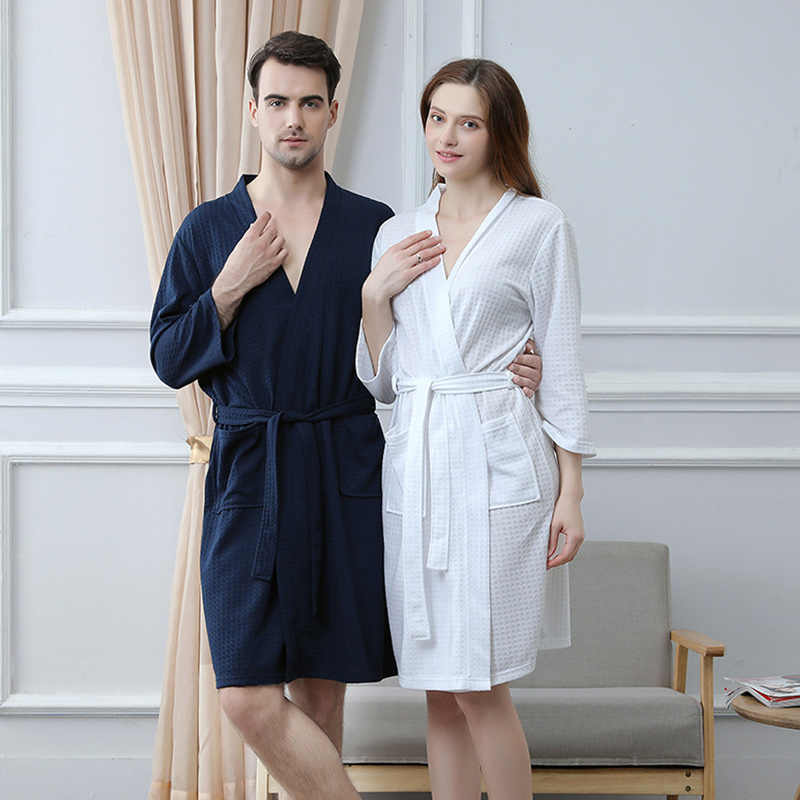28a7382a64 Loves Sashes Lace Up Wrap Sexy Bath Robes Three Quarter Sleeve Loose Solid Couple  Robe Nightie