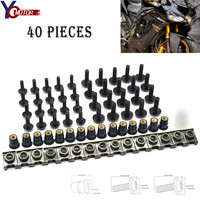 40PCS Motorcycle for Aprilia RSV1000 RSV DUCATI MONSTER 696 1098 996 999 848 796 695 Windscreen Screws Windshield Fairing Bolts